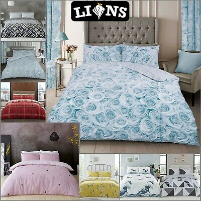 £14.99 • Buy PRINTED DUVET COVER Soft Luxury Bedding Set Reversible Quilt Covers Pillow Cases