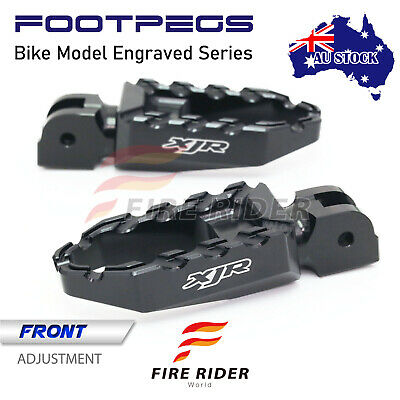 AU73.25 • Buy For Yamaha XJR 1300 98-03 02 01 00 99 Black BUZZ Laser Riser Rider Touring Pegs
