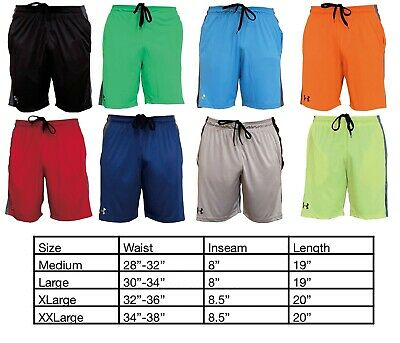 $18.95 • Buy Mens New Under Armour Two Tone Athletic Gym Muscle  Basketball Shorts M-2XL