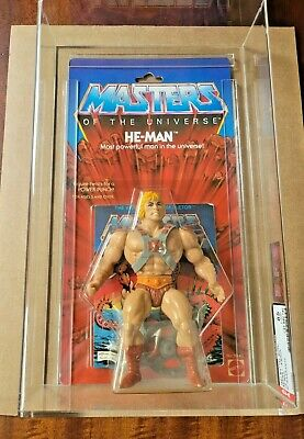 $15155 • Buy Mattel Masters Universe He-Man Action Figure 8 Back Moc AFA 85 MOTU Original 12
