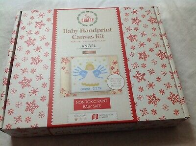 BRAND NEW BOXED Angel Baby Handprint Canvas Kit Edition Arts And Crafts Gift • 2.59£