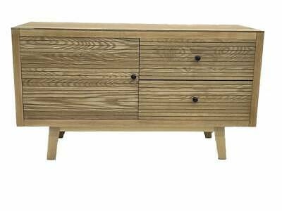 AU488.99 • Buy Kay Tv Cabinet Stand Buffet Storage Cupboard Timber Natural 100x65cm