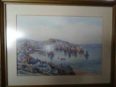 £175 • Buy Fine TH Victor Watercolour Of St.Ives Harbour & Town (Larger Size)