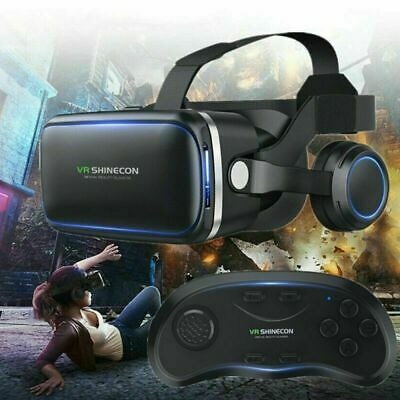 AU49.86 • Buy Virtual Reality Headset 360° VR 3D Glasses Goggles Phone + Remote Control Gifts