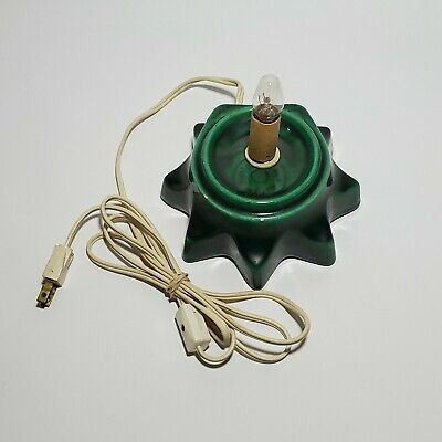$ CDN72.79 • Buy Ceramic Christmas Tree Replacement Base Green Base Only Vintage Tested & Working