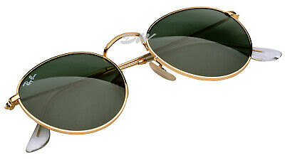 AU99.99 • Buy Ray-Ban Round Metal Sunglasses Gold Frames Green Lenses RB 3447 Size 50mm