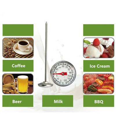 $7.99 • Buy Portable Stainless Steel Milk Frothing Beverage Instant Read Thermometer