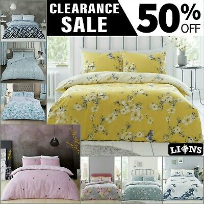 £16.99 • Buy KING SIZE DUVET COVER Printed Bedding Set Warm Floral Quilt Covers Pillow Cases