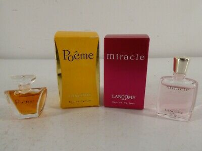 £17 • Buy Lancome Miracle 5ml And Poeme 4ml In Boxes H27