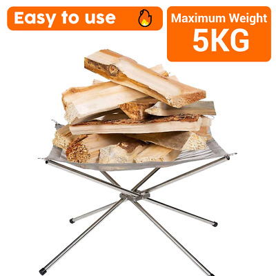 £16.99 • Buy Portable Fire Pit For Camping Or Garden Folding Outdoor Firepit With Steel Mesh