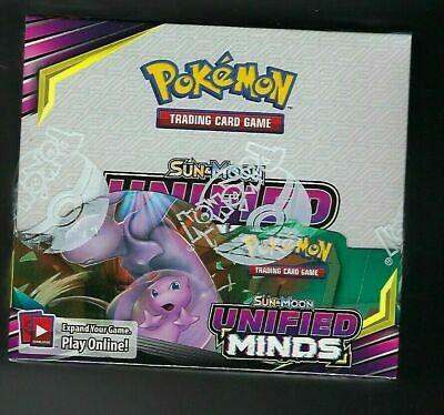 $400 • Buy Pokemon TCG Unified Minds Booster Box 36 Booster Packs Sun & Moon