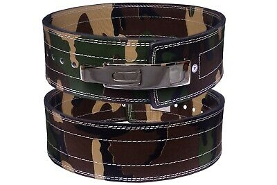 £23.99 • Buy Weight Power Lifting Leather Lever Pro Belt Gym Training Power Lifting Camo