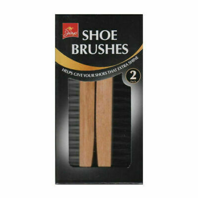 £4.49 • Buy 2pc Traditional Boot SHOE Brush Polish Buffing Buff Shine Leather Clean Smart