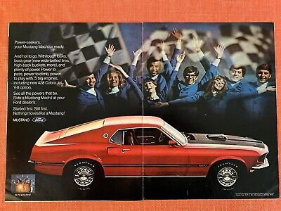 $14.99 • Buy 1969 Ford Mustang Mach 1 Rare Vintage Ad