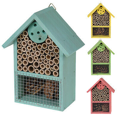 £6.99 • Buy Insect Bug Bee Hotel Hanging Wooden House Ladybird Nest Wood Shelter Box Roof
