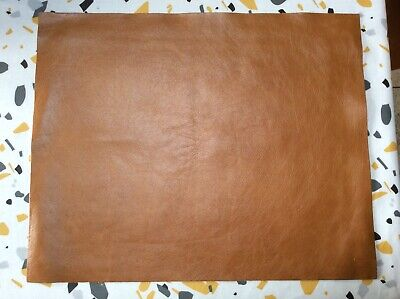 """£6.99 • Buy Tan Leather Remnants,pieces, Scrap Leatherwork,craft,upholstery,repairs 16""""x13"""""""