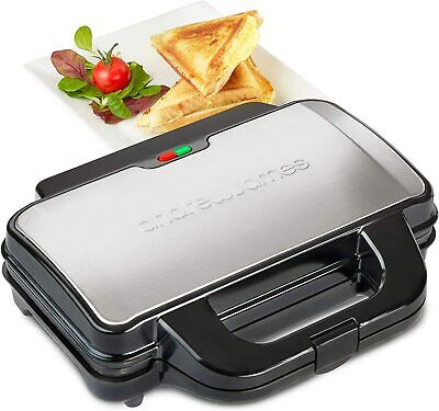 £24.99 • Buy Deep Fill Toasted Sandwich Maker Grill Machine 4 Slice Triangles Andrew James