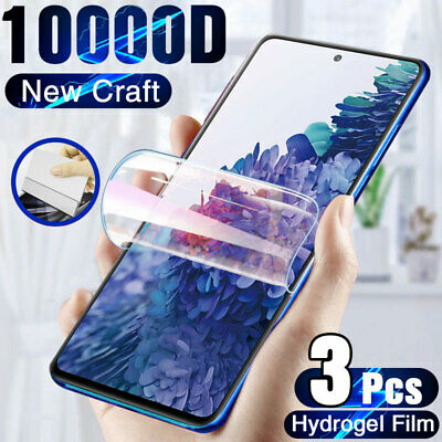 $ CDN2.49 • Buy 3Pcs Hydrogel Screen Protector For Samsung Galaxy S10 S20 S21 S9 Plus Note 20 10