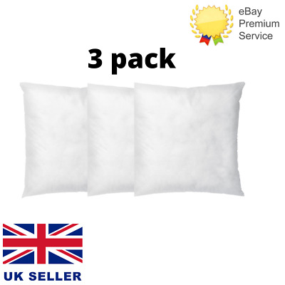 £9.95 • Buy Inner Cushion Pads Ikea 3 Pack, White 50x50 Cm Brand New Fast Delivery