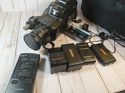 $ CDN73.46 • Buy Vintage  Sony Handycam 8mm Camcorder Model Ccd-f201 With Many Extras- Untested