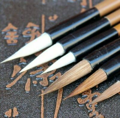 6x Chinese Water Brush Pen Painting Writing Calligraphy Ink Art Collectables • 3.20£