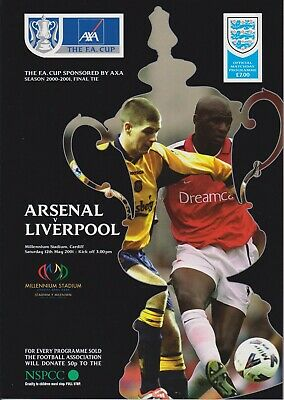 £3.99 • Buy 2001 Fa Cup Final Programme Liverpool V Arsenal (12/05/2001)