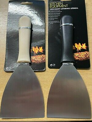 £6.50 • Buy Stainless Steel Griddle Scraper Kitchen Grill Burger Flipper Tool Catering BBQ