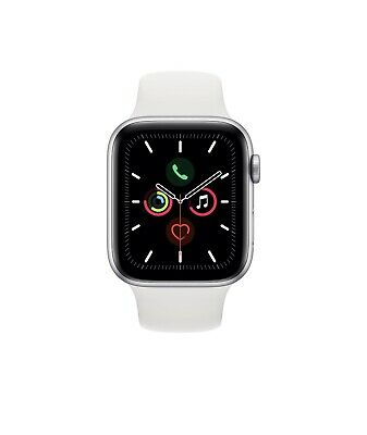$ CDN538.54 • Buy Apple Watch Series 5 44mm Silver Aluminum Case White Sport Band, NEW, SEALED BOX