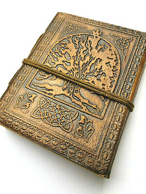 £6.95 • Buy Tree Travel Sketch Book Leather Bound Journal Travel Steampunk Paper Gothic
