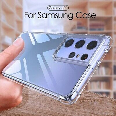 $ CDN3.13 • Buy For Samsung Galaxy S21 Ultra S20 A32 A52 A72 Silicone Clear Soft TPU Case Cover