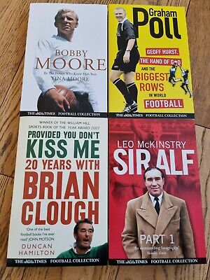 £13 • Buy Bobby Moore Sir Alf Brian Clough And Graham Poll Football Collection  Books