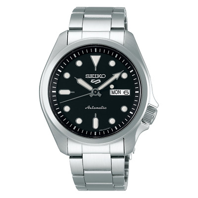 $ CDN249.81 • Buy Seiko 5 Sports 40mm Full Stainless Steel Black Dial Automatic Watch - SRPE55K1