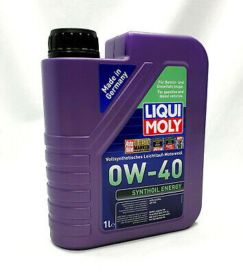 AU47.88 • Buy Liqui Moly - Synthoil Energy 1360 Engine Oil 0 W-40 1 Litre - Fully Synthetic