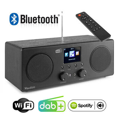 £110 • Buy Bari Internet Radio Tuner With DAB+ And Bluetooth, WiFi, Spotify Connect, Black