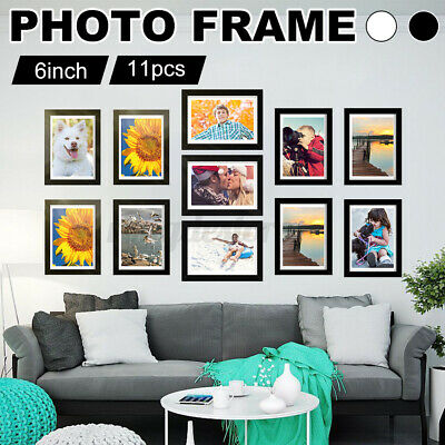 £7.99 • Buy Modern 9pcs Multi Photo Picture Clock Frame Love Family Friends Home Wall Mount