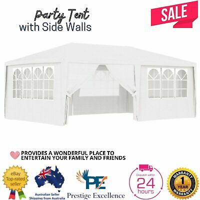 AU169 • Buy Gazebo Party Wedding Tent Outdoor Marquee Party Canopy Event Shade White 4x6m AU