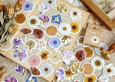 £3.19 • Buy COUNTRYSIDE FLOWER STICKERS Floral Scrapbook Journal Card Craft Decoration