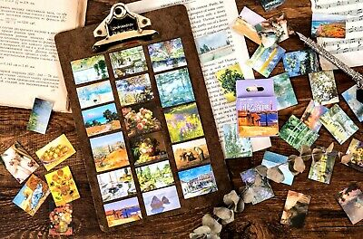 £2.99 • Buy OIL PAINTING STICKERS Art Gallery Scrapbook Journal Diary Card Craft Decoration