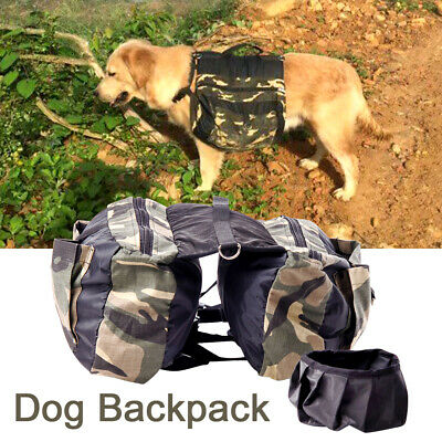 £14.19 • Buy Harness Backpack Zipper Outdoor Travel Pet Supply For Hiking Dog Saddle Bag New