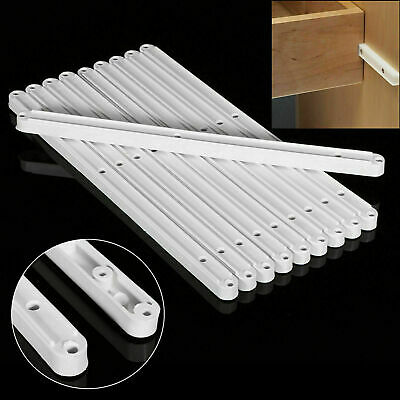 £2.48 • Buy Pairs Draw Drawer Runners Kitchen Bedroom Cabinet Plastic Guide Rail Rails White