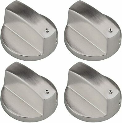 £6.99 • Buy 4 X INDESIT Oven Cooker Metal Hob Flame Burner Hotplate Control Switch Knobs