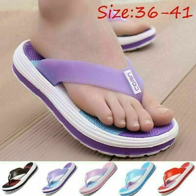 £4.99 • Buy Women Arch Support Soft Cushion Flip Flops Thong Sandals Slippers Beach Pool Uk