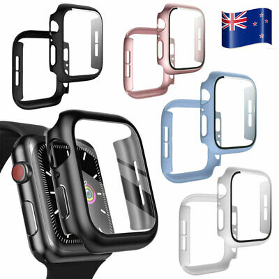 AU7.99 • Buy For Apple Watch Series 4 5 6 Tempered Glass Screen Protector Matte PC Cases 2021