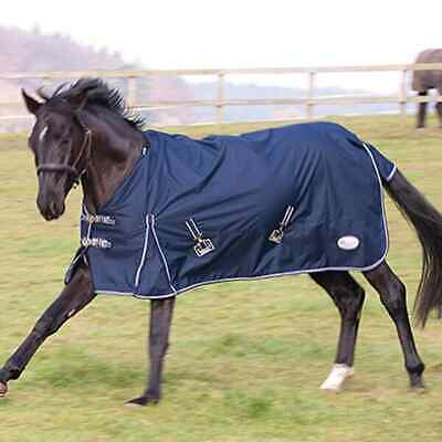 £44.95 • Buy Rhinegold Torrent Lightweight Horse Pony No Fill Turnout Rug - Navy