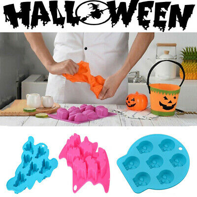 £3.58 • Buy Halloween Silicone Cake Soap Mold Ice Cube Chocolate Cookie Baking Mould Maker