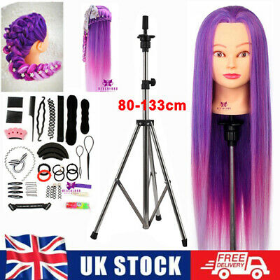 Training Head 26-28'' Practice Hair Styling Beauty Hairdressing Mannequin Doll • 18.99£