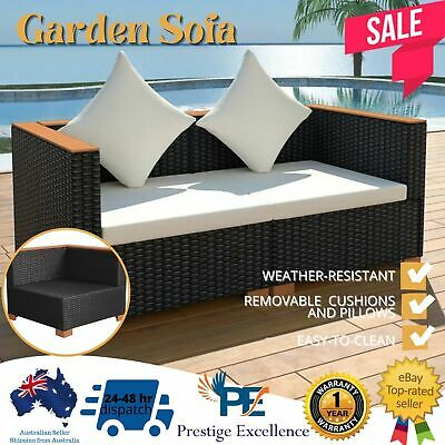 AU272.97 • Buy Garden Sofa Outdoor Furniture Patio Waterproof Lounge PE Wicker Setting Chair AU