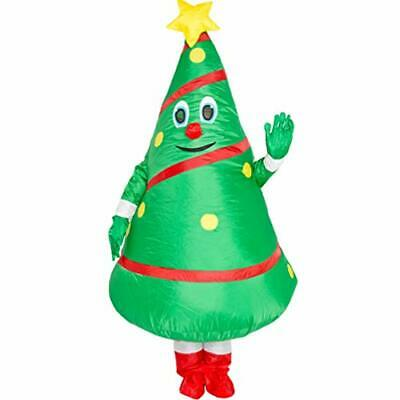Unisex Adult Christmas Tree Costume Cosplay Inflatable Funny Festive Suit • 24.40£