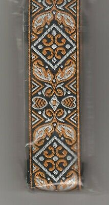 $ CDN16.23 • Buy Vintage Style Gold And Black Embroidery Guitar Strap-heavy Duty-free Shipping-
