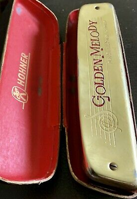 $25.98 • Buy Vintage M. Hohner Golden Melody Harmonica W/ Case M- Key Of C - Made In Germany